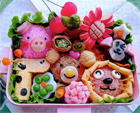 Anime characters lunchbox class