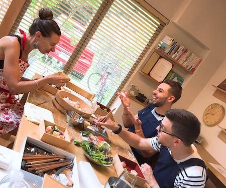 Enjoy making beautiful Ball sushi and tempura