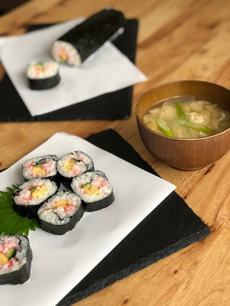 Roll Sushi & Miso Soup Cooking Class! With gift chopsticks!