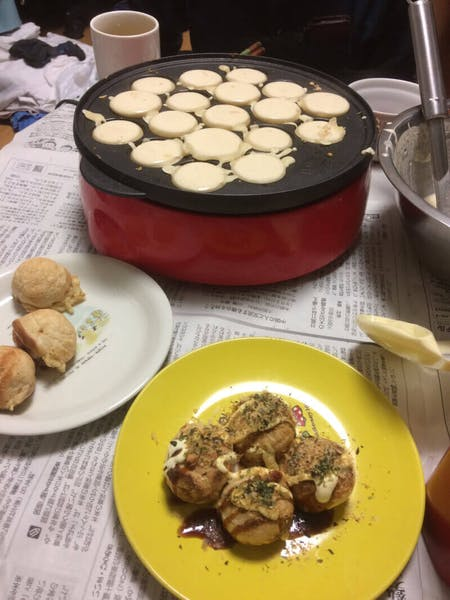 TAKOYAKI & Miso soup、Green Tea