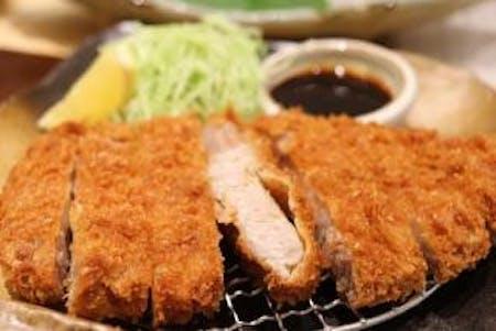 Temaki sushi&Homemade miso soup& Tonkatsu.