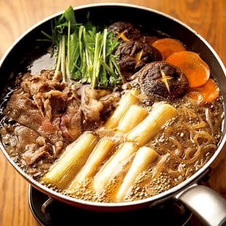 Homemade Sukiyaki Cooking