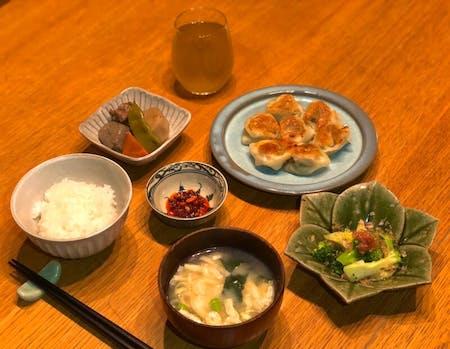 Homemade gyoza (dumpling),