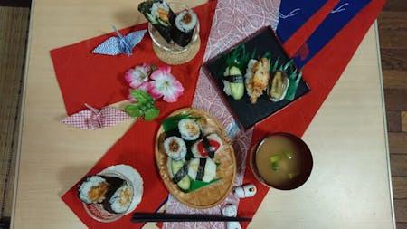 Vegetarian Sushi cooking