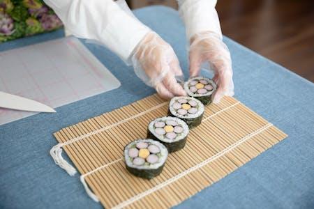 Japanese art sushi