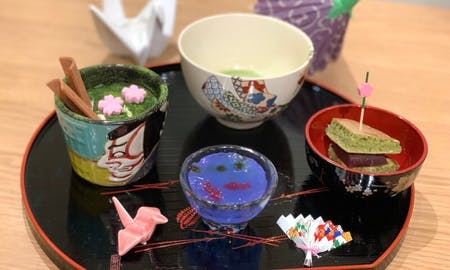 Matcha sweets making & Tea ceremony with Patissier