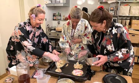 Okonomiyaki Cooking in Kyoto with Local chef
