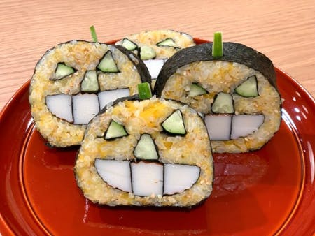 Jack-o\'-Lantern Kazarimaki Sushi Roll Cooking in Kyoto with licenced teacher