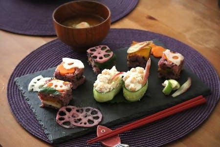 Make Veggie Sushi & Veggie Miso Soup