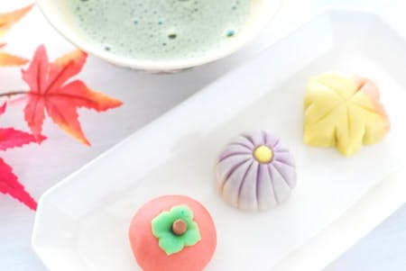 Autumn themed Japanese Sweets (Wagashi) at chef\'s home