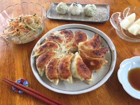 Juicy and crispy! Making Pork Gyoza from scratch(options: Shrimp)