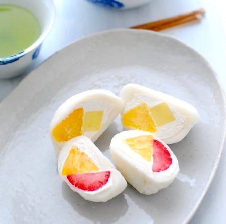 Cream Daifuku Mochi - Fruits and Matcha