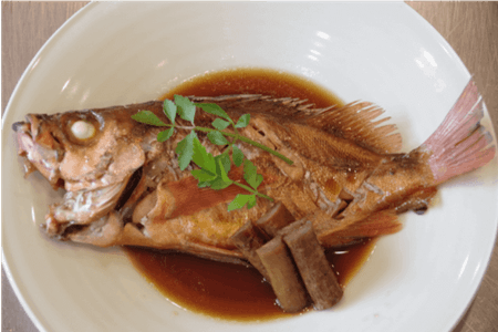 Washoku Simmered fish with soy sauce