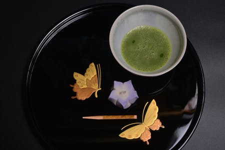 Japanese traditional confectionery and tea ceremony