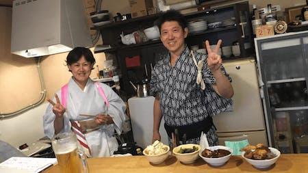 Sukiyaki, egg rolls, fried rice, noodles