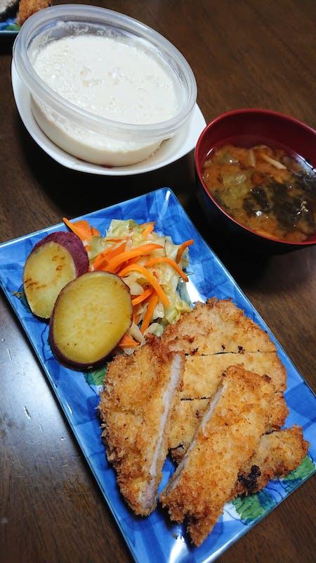 Tonkatsu or Tempura and miso soup