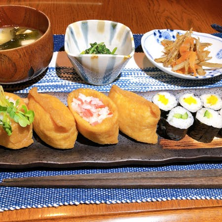 Inari-zushi (sushi pocket) course