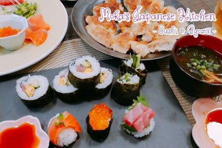 Sushi, Gyoza dumpling, Misosoup