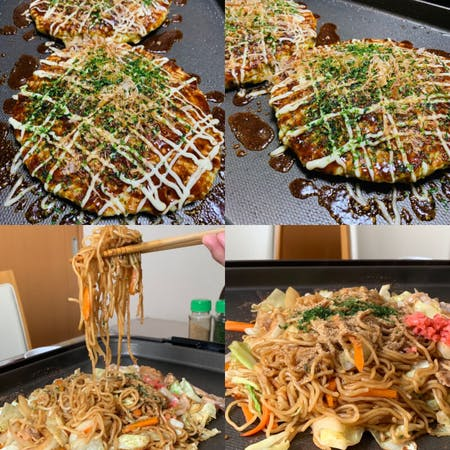 【Yakisoba and Okonomiyaki】\r\nYou can make two types of dishes: yakisoba and okonomiyaki