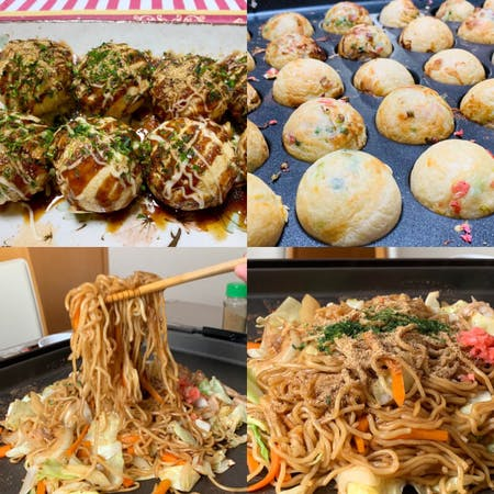 【Yakisoba and Takoyaki】 You can make two types of dishes: Yakisoba and Takoyaki