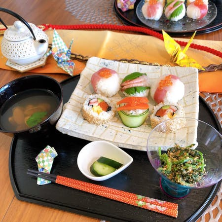 Let's make happy SUSHI❤︎ we make Sushi Ball called 'Temarizushi'