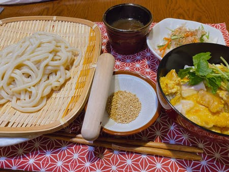 Udon noodles from the scratch & Oyako-don course\r\n