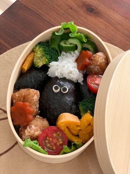 Vegan Character Bento ( lunch box )& Vegan Miso soup