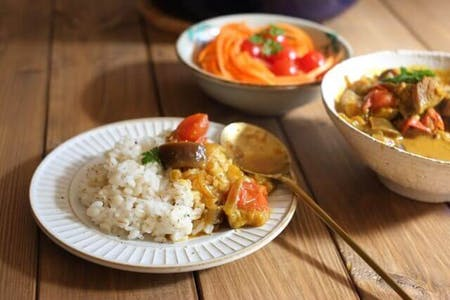 Japanese Home Style Vegan Curry Cooking