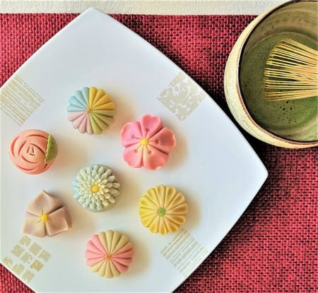 Traditional Japanese sweets & Matcha tea ceremony