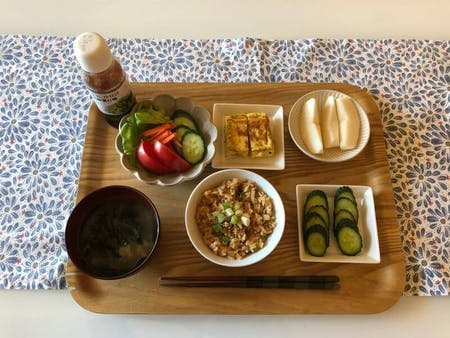 *很健康的日本早饭*
