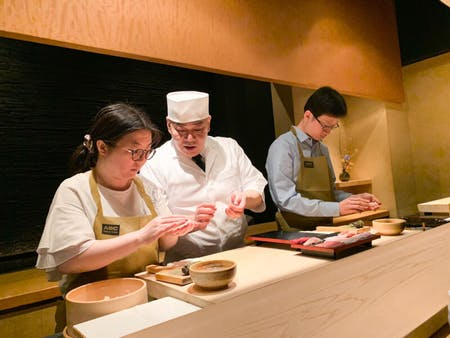 Private sushi making with a chef at the Morimoto