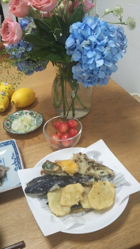 Seosonal Vegetable Tempura and Japanese Deserts