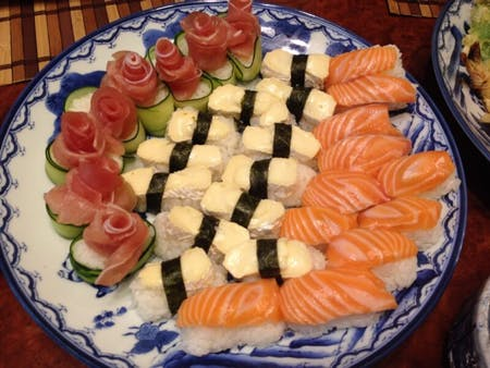 Enjoy sushi for party