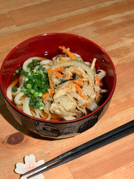 Vegan Home made Udon & Vegetable tempura