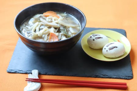 Make Kenchin-style FRESH UDON & USAGI MANJYU