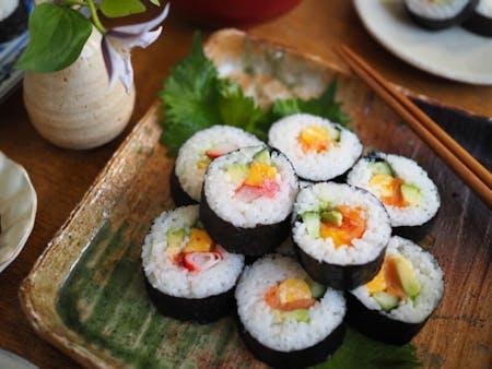 Maki-sushi making class(Maki-sushi&Miso soup&Matcha)at KICHIJOJI!!