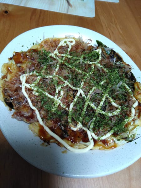 Let's cook home made okonomiyaki and yakisoba at Kyoto