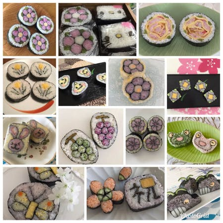 Decorative sushi making class with tea ceremony\n