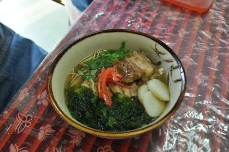 Okinawan soba noodles in Yagaji, Okinawa