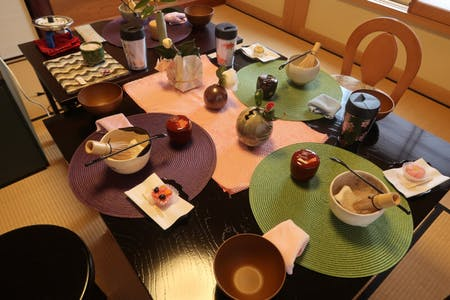 Table tea ceremony and incense