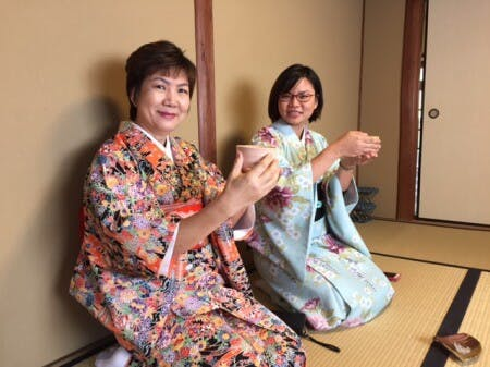 Authentic tea ceremony near Golden Pavilion Kyoto