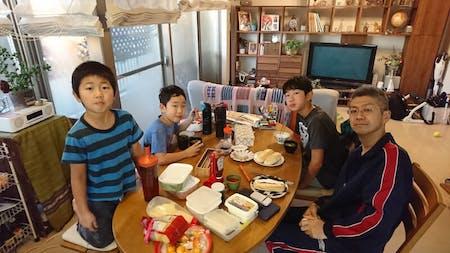 Minoo okonomiyaki with bonito dancing ♪