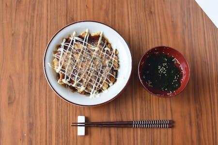 Fluffy Okonomiyaki made from scratch