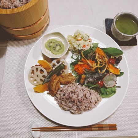 Vegan Meal with Japanese Ingredients