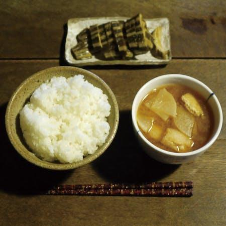 Basic rice, miso soup, farmer side dish class