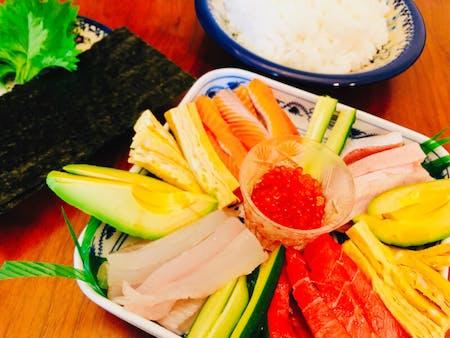 •Temaki Sushi •Chawanmushi(steamed egg custard) •Misosoup