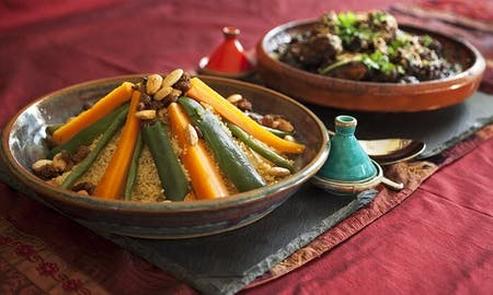 Online Moroccan Home cooking with Local family