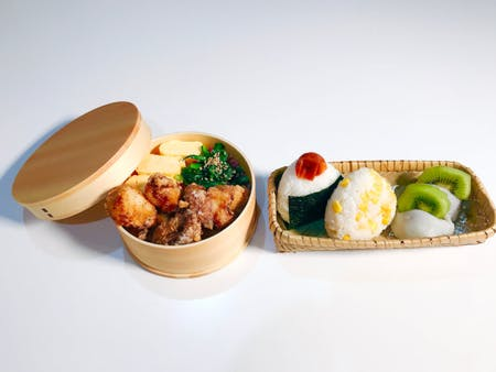 〈Online Class〉 Kara-age and Onigiri Bento ※Japanese Lunch Box