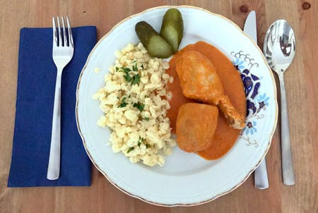 Online Hungarian Cooking Course by a local chef: How to make Chicken Paprikash?