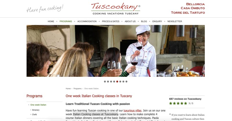 Italian Cooking classes at Tuscookany